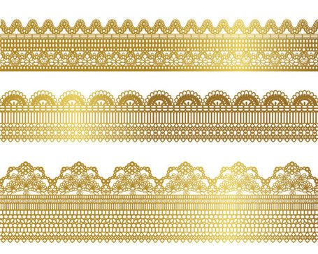 Gold lace pattern 01