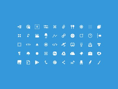 50 Glyph Icons(PSD)