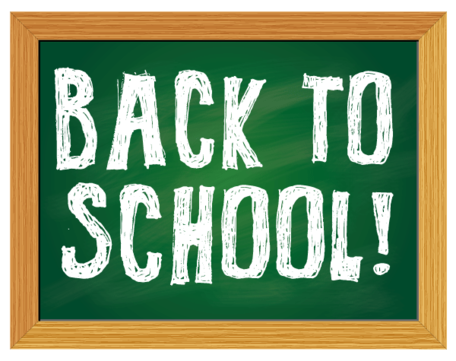 Back to School Chalkboard Vector Free