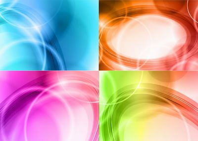 Pack abstracto curvas brillantes colores de fondo