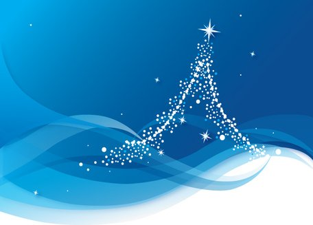 Abstract Blue Christmas Tree Background