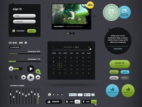Futurico - User Interface element gratis Pack