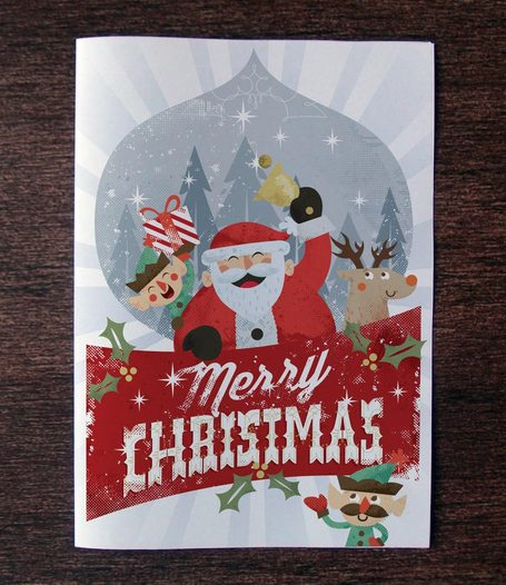 Christmas Card Invitation Template