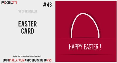 Red Flat Easter Card
