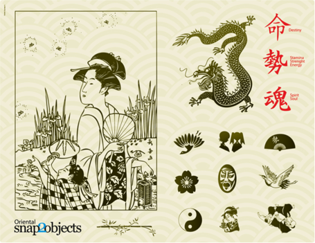 Traditional Japanese Vector Elements