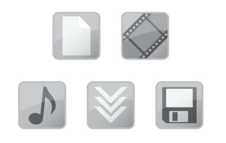 Glossy Vector Web Icons Free