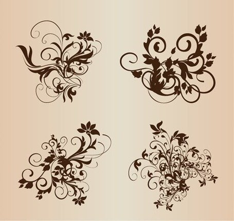 Ornement floral éléments Vector Set