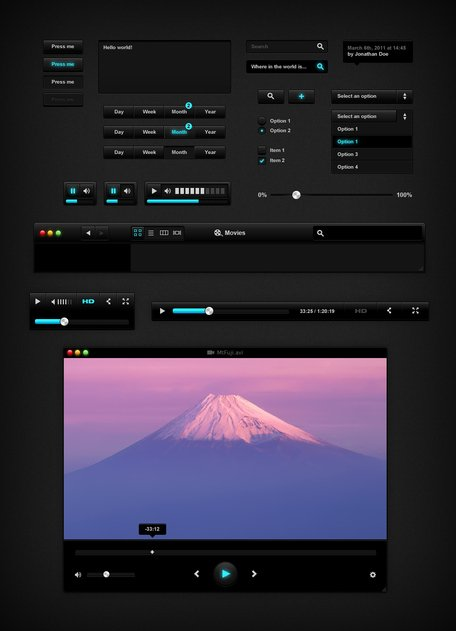 Black UI Kit