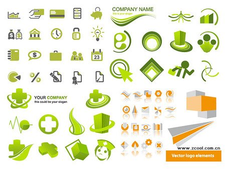 4 sets of simple graphical icons