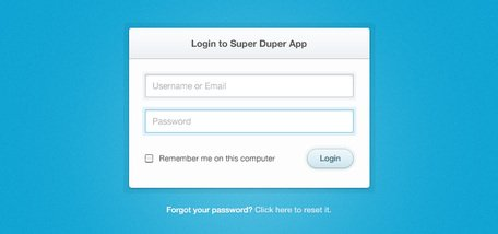 Formulaire de Login propre & Simple (PSD)