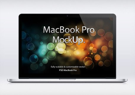MacBook Pro näthinnan Psd Mockup