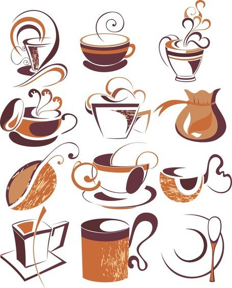 Coffee Draft Line Elements 01