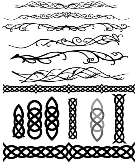 Celtic and Elvish Decoration Flourish Vectors