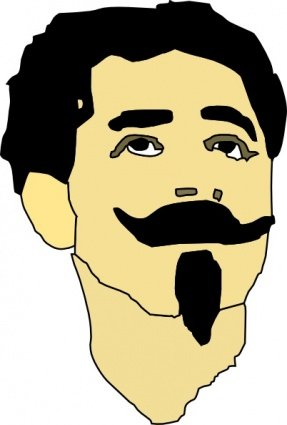 Free Man With Mustache And Goatee Clipart And Vector Graphics