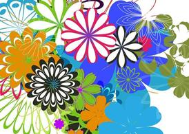 Colorful Flowers Background Art