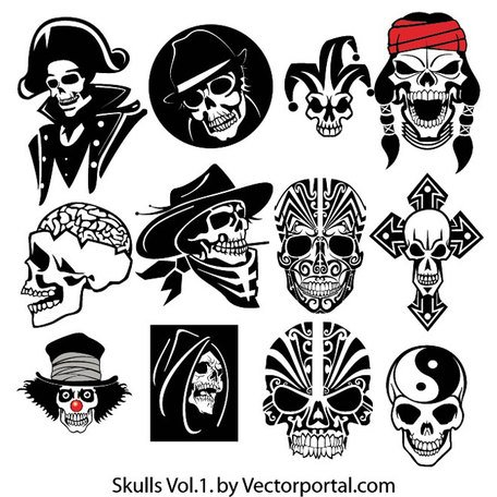 SKULL VECTOR PACK.eps