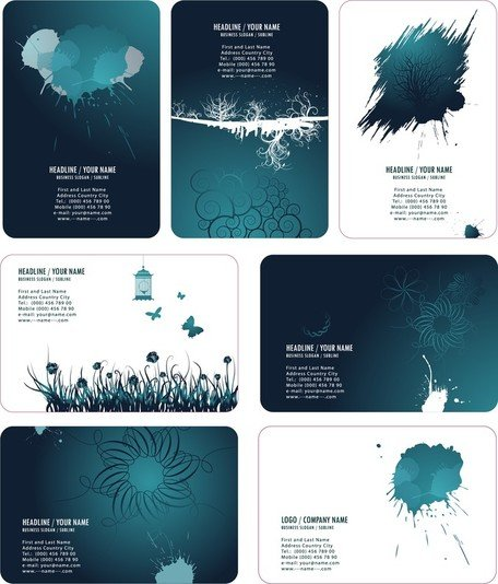Beautiful Ink Style Card Template