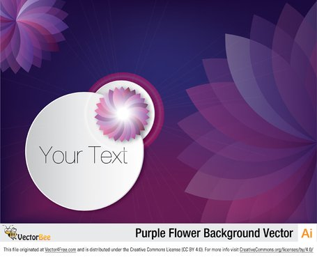 Purple Flower Background