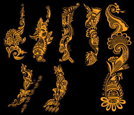 Free Indian Henna Tattoo Designs Vector Free Clipart And Vector