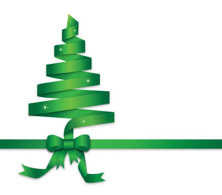 Green Ribbon Christmas Tree