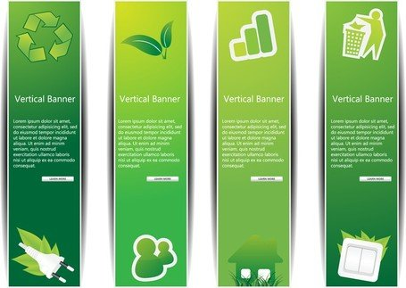 Design von Lowcarbon Green Theme Vektor 1