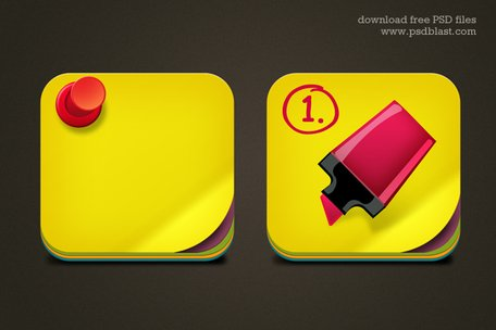Gratis Download notitiepictogram PSD voor Mac