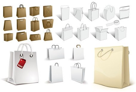 A variety of material empty vector Bag