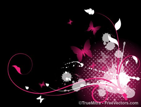 Abstract Flourish Splash Background