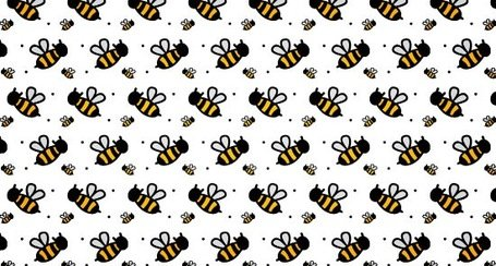 A Cute Bee Seamless Photoshop And Illustrator Pattern