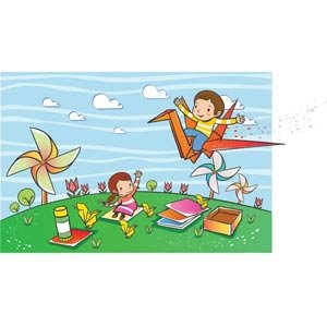 Illustrations vectorielles enfant 0000016 Air Art