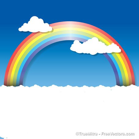 Rainbow Clouds Background