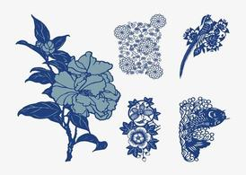 Japanese Vector Flowers