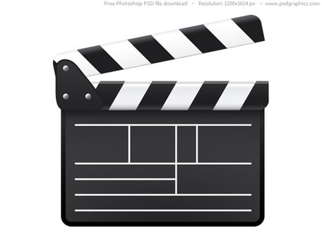 PSD movie clapboard icon