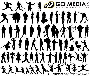 Go Media Vector Chupin material (set8) - all kinds of people