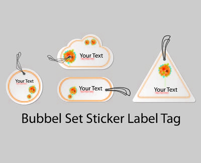 Bubble vorm Sticker Label Pack