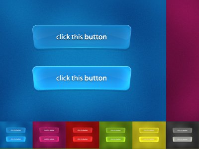 Glossy buttons pack