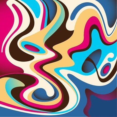 Abstract Colorful Flow Background
