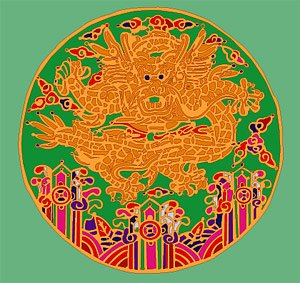 Chinese Classical Dragon circular pattern