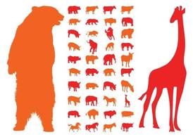 Animal Silhouettes graphiques