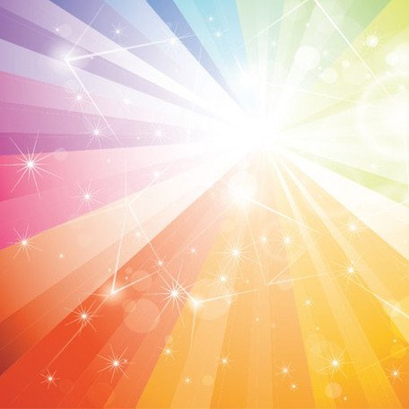 Rainbown sunbeam background