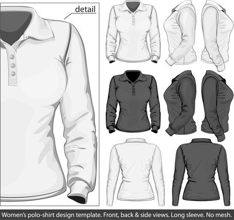 Elegant Longsleeved Shirt Template 03