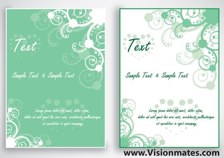 Free Swirl Vector Green Card