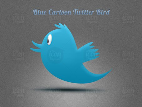Cartoon blu Twitter Bird