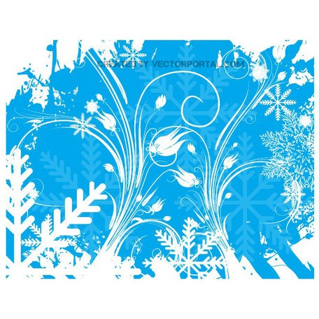 WINTER FLORAL SWIRLS voorraad VECTOR.ai