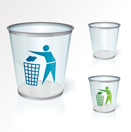 Lege Recycle Bin Vector Icons (gratis)