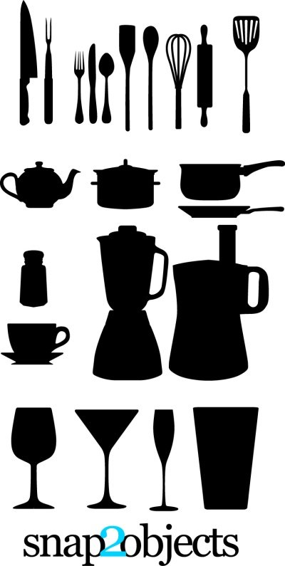 Free Free Vector Kitchen Appliances Silhouettess Clipart And