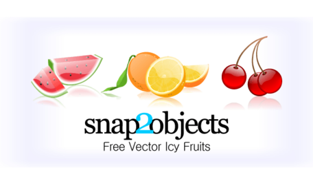 Free Vector Icy Fruits