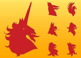 Heraldic Animals Graphics