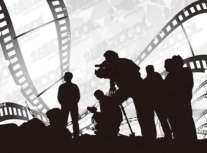 People silhouette Vector theme film material