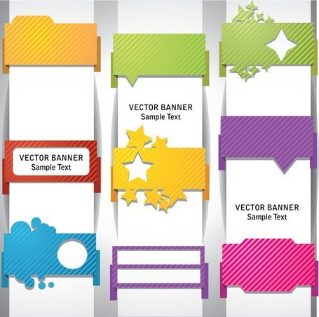 Wrap angle banner01vector clipart for Banner wrap